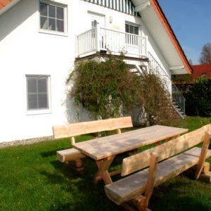 Prerow Ferienwohnung An der Stems - Ferienservice Prerow Garten