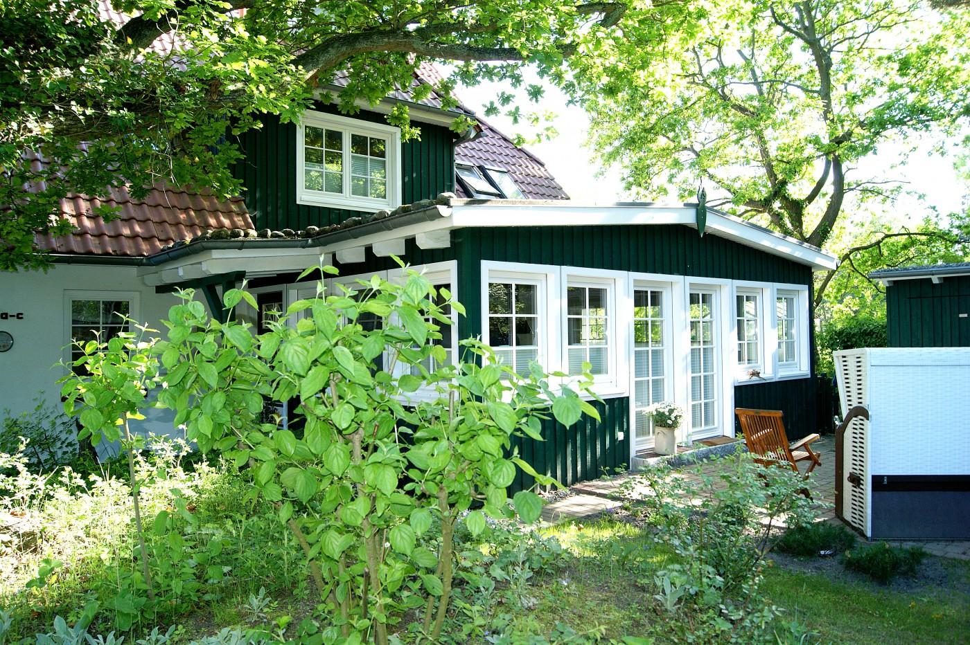 Prerow Ferienwohnung Darß Romantik - Ferienservice Prerow Garten