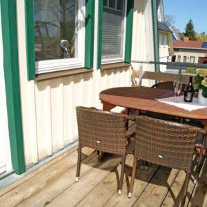 Prerow Ferienwohnung Carla - Ferienservice Prerow Balkon Terrasse