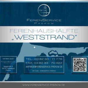 Prerow Ferienhaus Weststrand - Ferienservice Prerow Objektschild