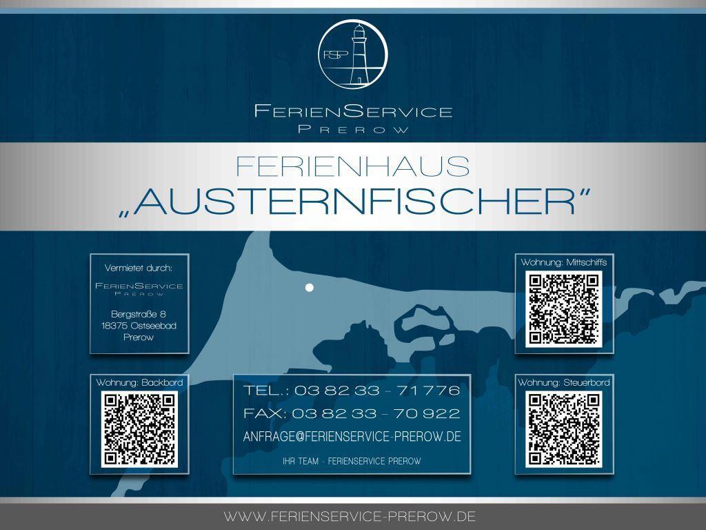Prerow Ferienhaus Austernfischer Backbord - Ferienservice Prerow, Grüne Straße 10 18375 Ostseebad Prerow