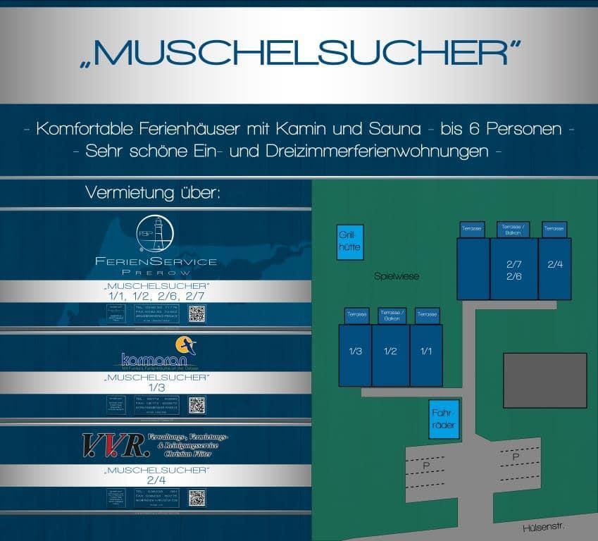 Objektschild Prerow Ferienhaus Muschelsucher 2/6 - Ferienservice Prerow